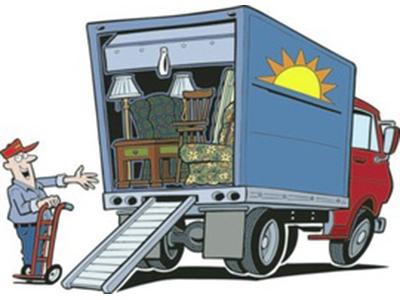 cartoon moving truck